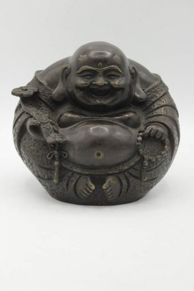 Runde Hotai Buddha Figur aus Bronze