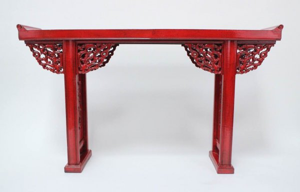 Chinesisches Sideboard Ulmen Holz, Rot