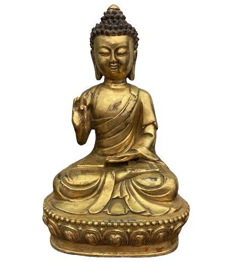 Buddha Figur (30cm) Bronze Karana Mudra