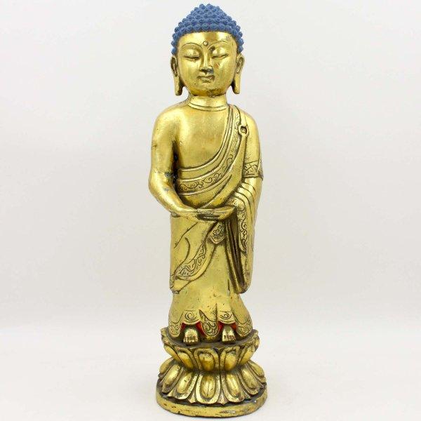 Stehender Siddharta Buddha (43,5cm) Bronze Figur