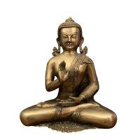 Buddha Figur Bronze Schutz & Segnungsgeste