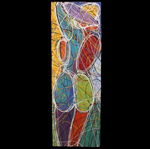 Abstraktes Akt Gemälde (150cm) Moderne Asiatische Kunst