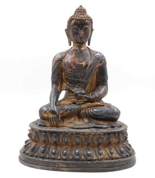 Siddharta Gautama Buddha (33,5cm) Bronze Figur Tibet