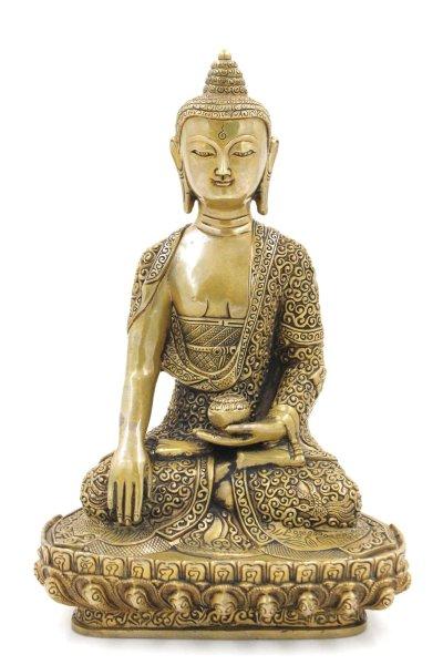 Siddharta Buddha Figur (30cm) Bronze Shakyamuni