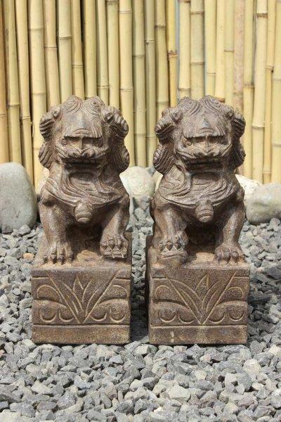 Chinesische Wächterlöwen - Fu Dogs - aus Naturstein