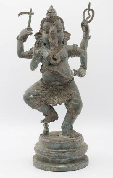 Tanzende Ganesha Figur, Bronze