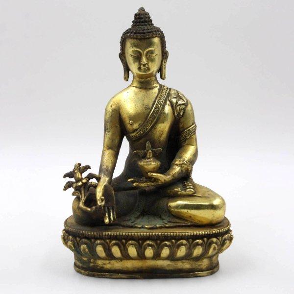 Medizin Buddha Figur (23cm) Bronze Statue