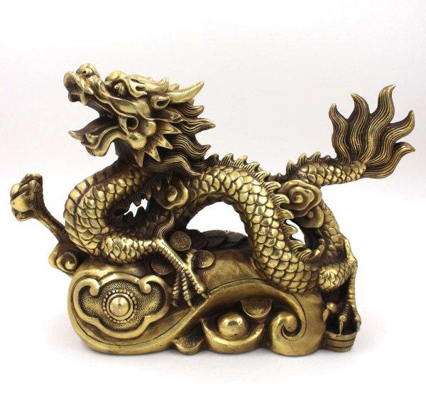 Imposante Drachen Figur aus China - Bronze