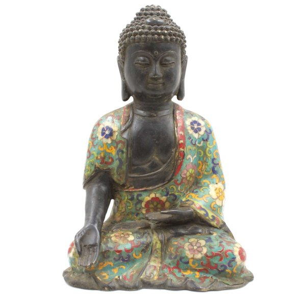 Ratnasambhava Buddha Figur (27cm) Cloisonné Statue