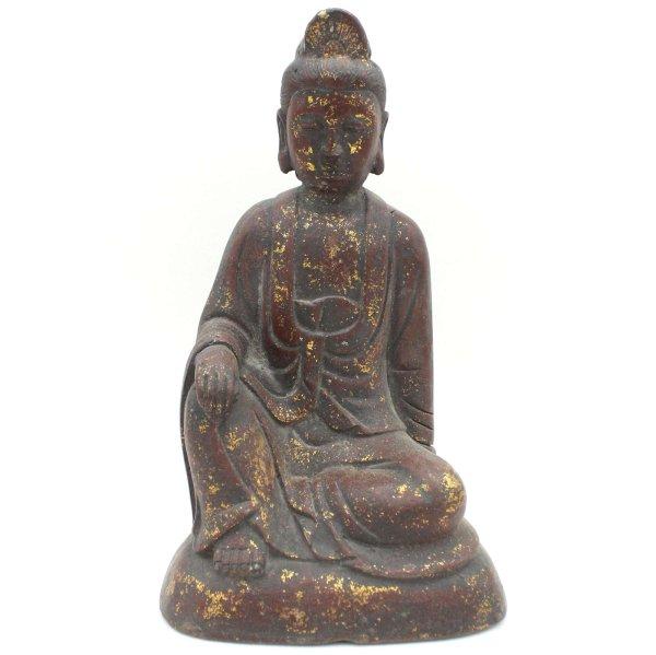 Chinesische Guanyin Figur (22cm) China Bronze Göttin