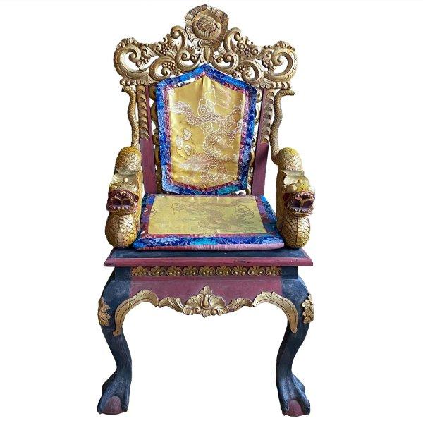 Tibetischer Stuhl - Drachen Thron aus Nachlass