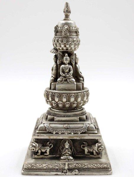 Buddha Pagode - Stupa - Tibet Silber
