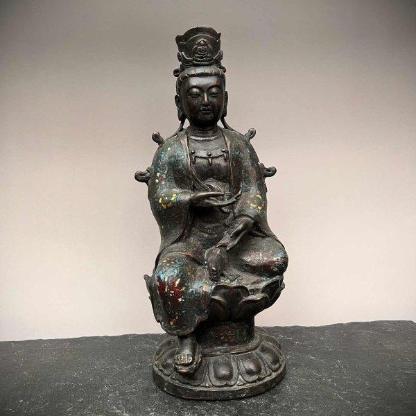 Kwan-Yin Buddha Figur aus Bronze