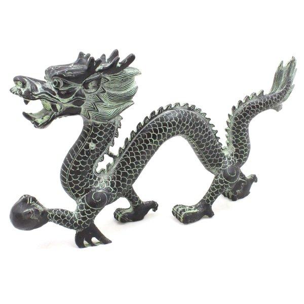 Drachen Krafttier Figur (36cm) Zink Tierkreiszeichen