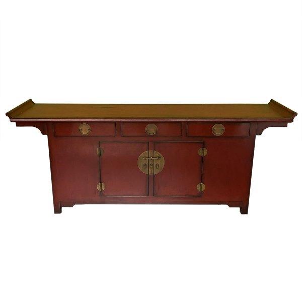 Chinesisches Sideboard 225cm - Asiatische Anrichte - Rot