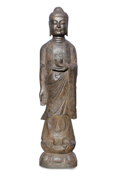 Stehender Garten Buddha aus Stein