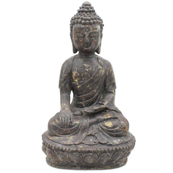 Siddharta Gautama Buddha (29cm) Eisen Figur China