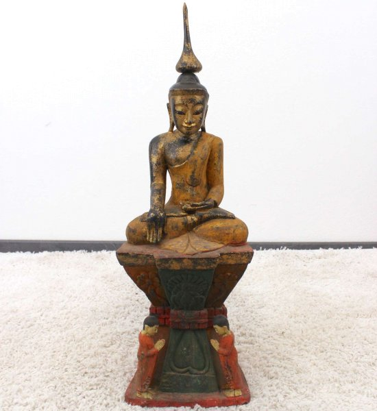 Burma Siddharta Buddha Figur (74cm) Monkeywood Shakyamuni