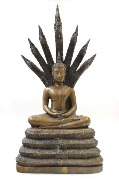 Naga Buddha Figur aus Bronze - 56cm groß