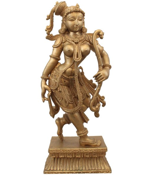 Tanzende Tempelwächterin Holz (92cm) Thailändische Figur