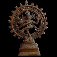 Shiva Gott Figur Bronze (28,5cm) Tanzende Statue Indien