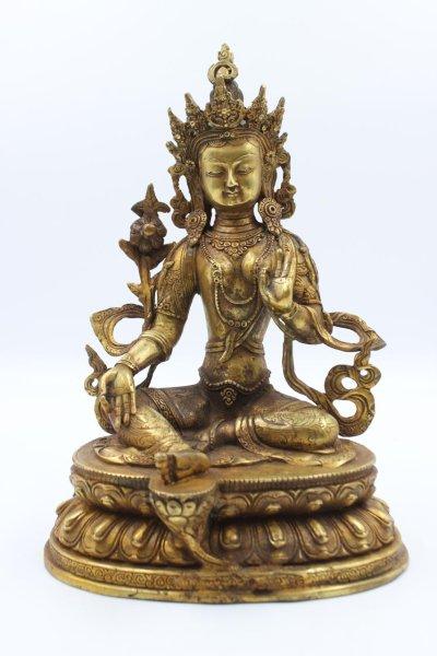 Grüne Tara Buddha - Figur aus Bronze