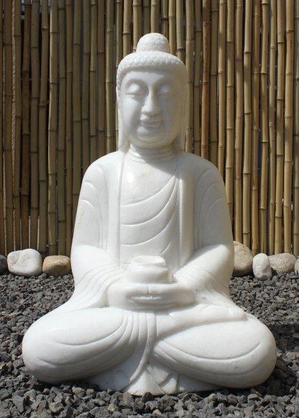Buddha Garten Brunnen aus Marmorstein - Amitabha