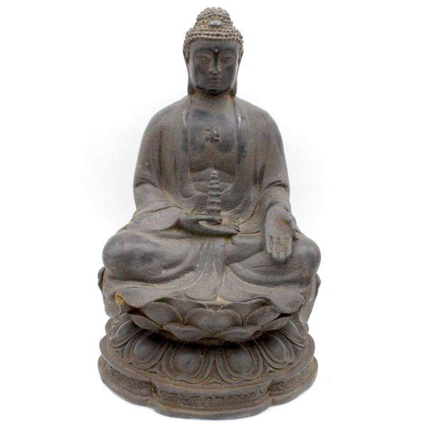 Ratnasambhava Buddha Figur (23,5cm) Bronze Statue China