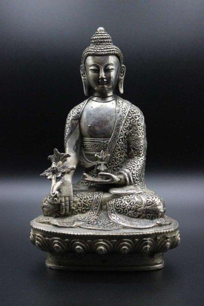 Medizin Buddha aus Bronze - Bhaisajyaguru