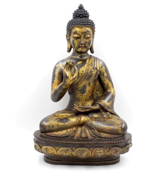 Buddha Figur (53cm) aus Bronze, Karana Mudra