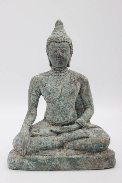 Siddharta Buddha Figur mit Patina, Thailand