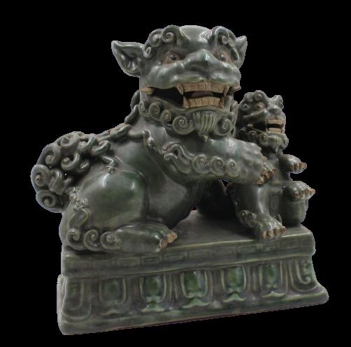 China Tempellöwe (21cm) aus Porzellan - Keramik