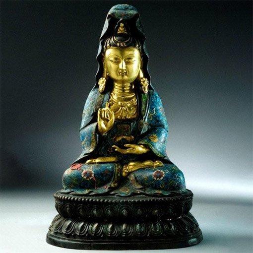 Hochwertige Cloisonne Buddhas