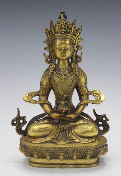 Amitayus Buddha Figur aus Bronze