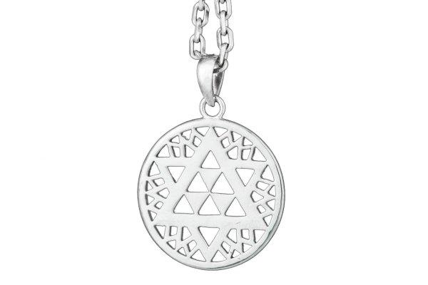925er Silber Hexagramm Anhänger
