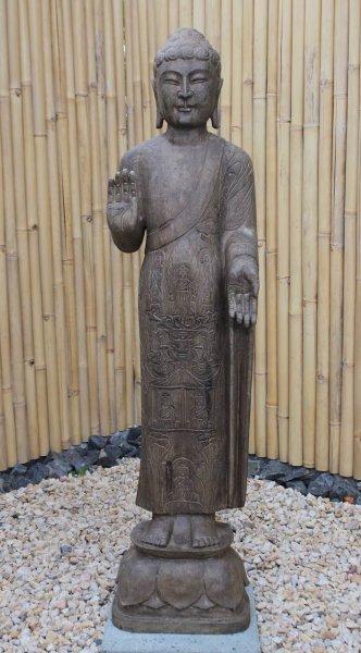 Garten Buddha Statue mit Schutz Gestus 152cm