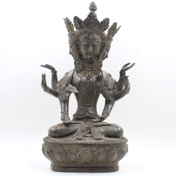 Kosmischer Vairocana Buddha (49cm) Bronze Figur