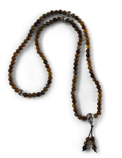 Mala Meditationskette mit Labradorit Perlen