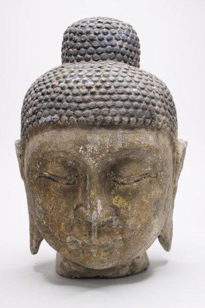 Buddha Kopf aus Naturstein 31cm