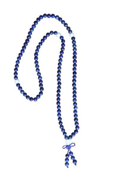 Buddhistische Halskette Mala, Lapislazuli mit Dorje