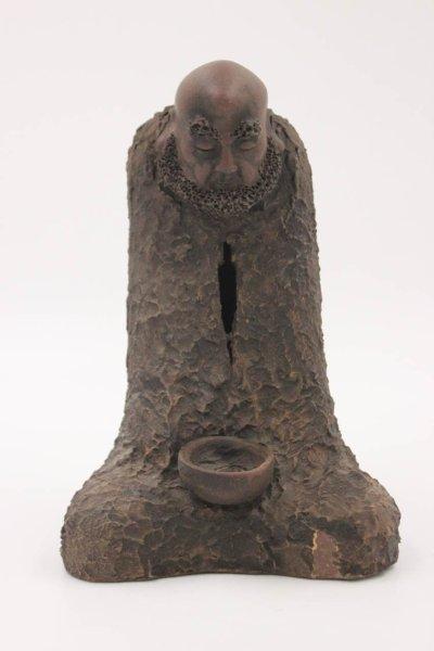 Chinesischer Arhat Lohan aus Keramik - handmade