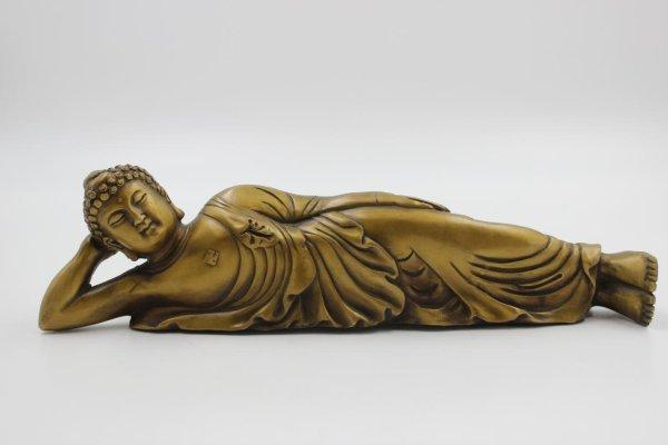 Nirvana Buddha Bronze-Figur - Wochentagsbuddha 'Dienstag'