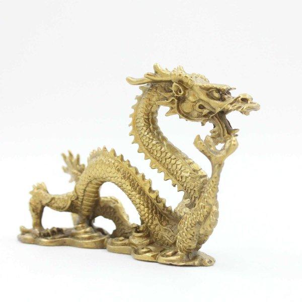 Chinesischer Drache (15cm) Bronze Tierkreiszeichen Figur