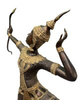 Arjuna Bronze Figur Bogenschütze (70cm) Thailand Statue
