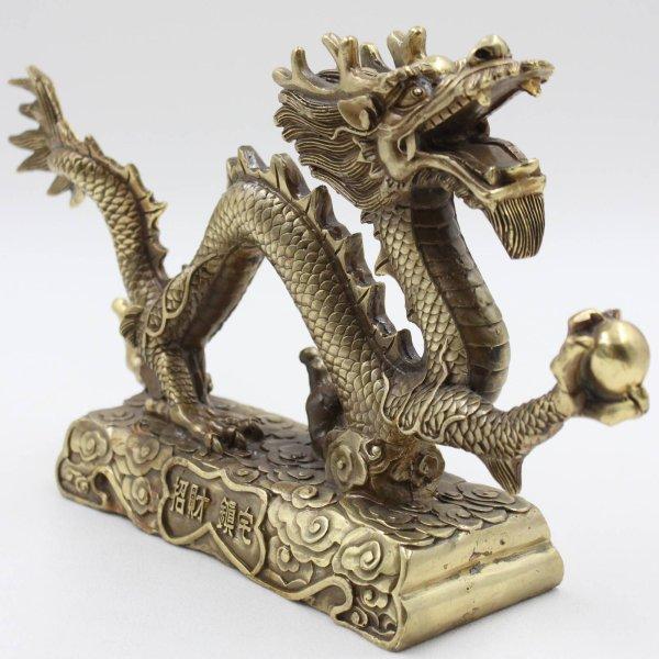 Asiatischer Drachen - Figur aus Bronze
