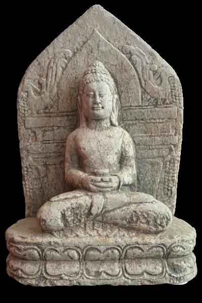 Alte Marmor Buddha Figur Tibet - 44cm groß