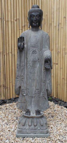 Garten Buddha Statue mit Schutz Gestus 152cm groß