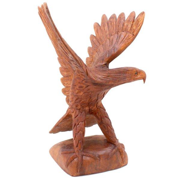 Handgeschnitzte Adler Skulptur (31,5cm) aus Holz