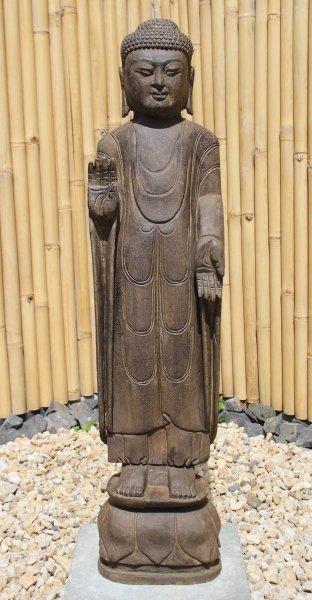 Garten Buddha Statue mit Schutz Gestus 121cm groß