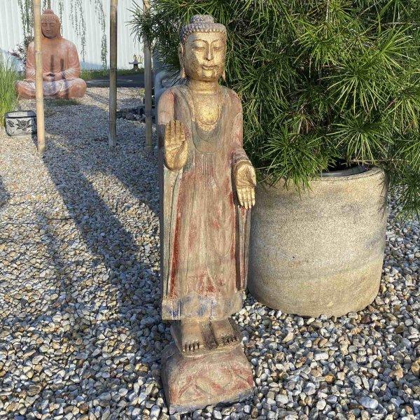 101cm große Garten Buddha Statue auf Lotussockel